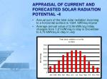 appraisal of current and forecasted solar radiation potential 4