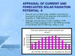 appraisal of current and forecasted solar radiation potential 5