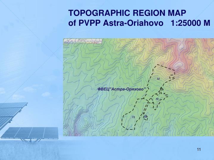 TOPOGRAPHIC REGION MAP