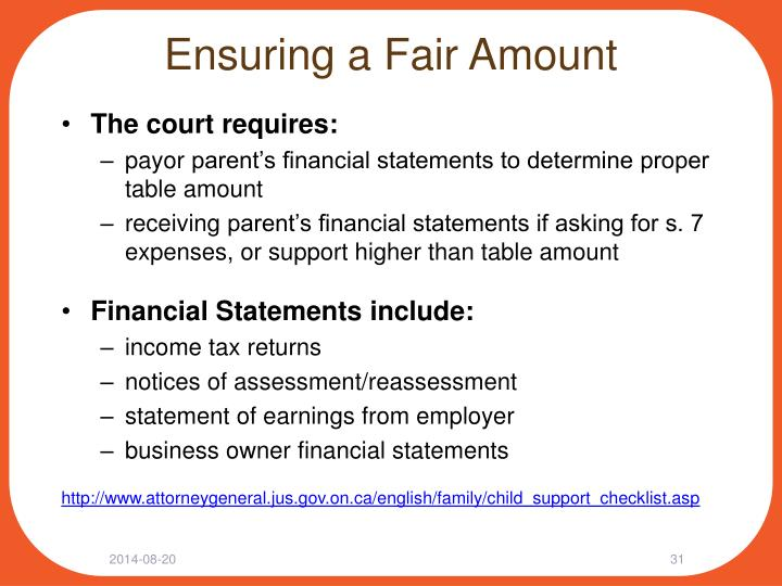 Ensuring a Fair Amount