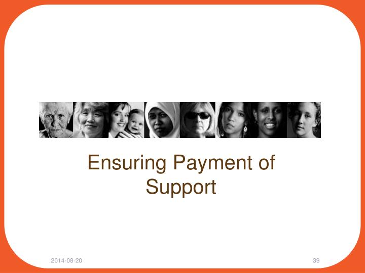 Ensuring Payment of Support
