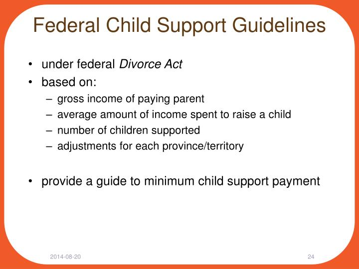 Federal Child Support Guidelines