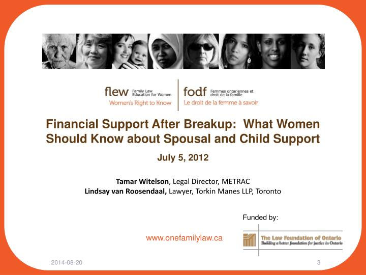 Financial Support After Breakup:  What Women Should Know about Spousal and Child Support