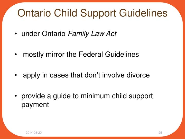 Ontario Child Support Guidelines
