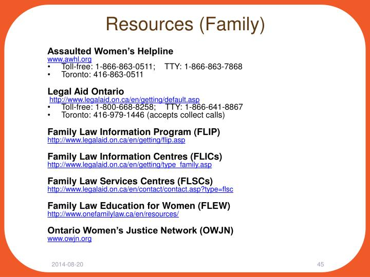 Resources (Family)