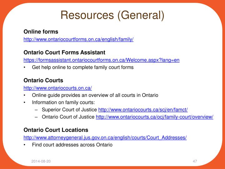 Resources (General)