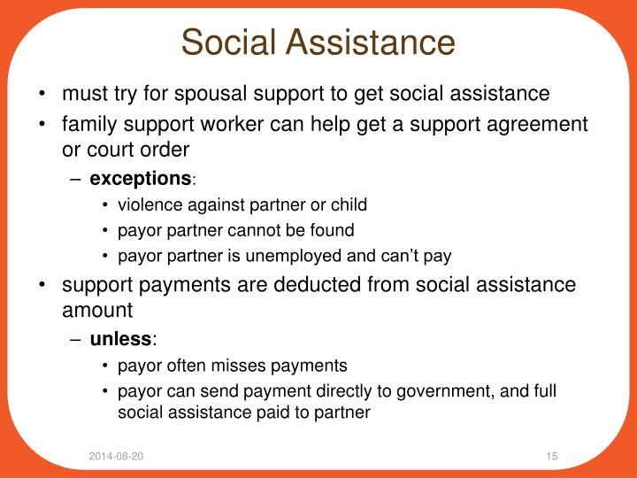 Social Assistance