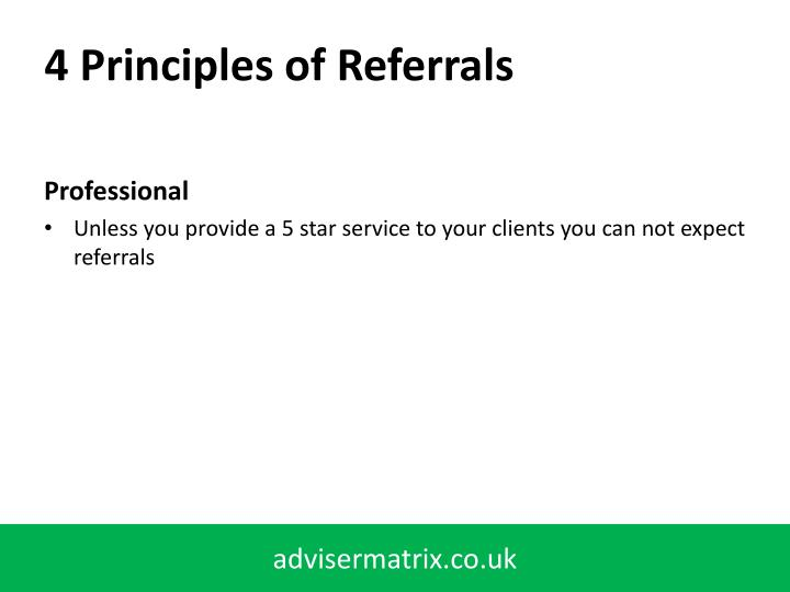 4 Principles of Referrals