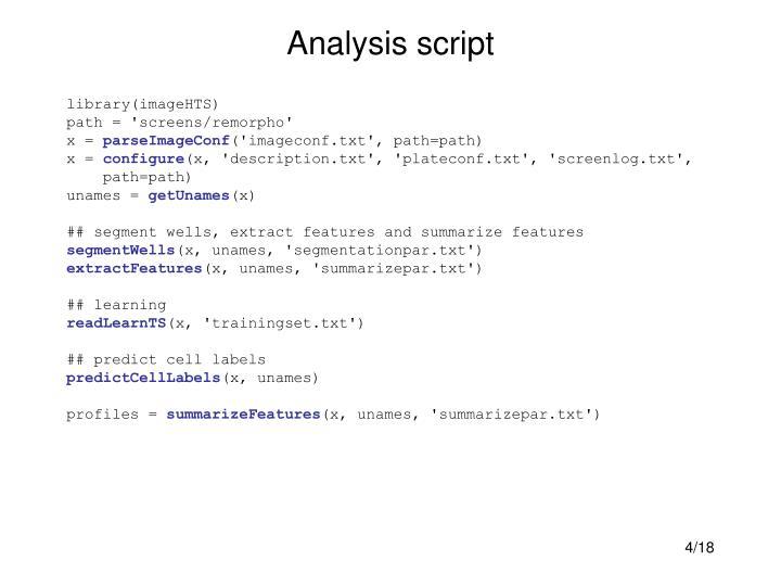 Analysis script