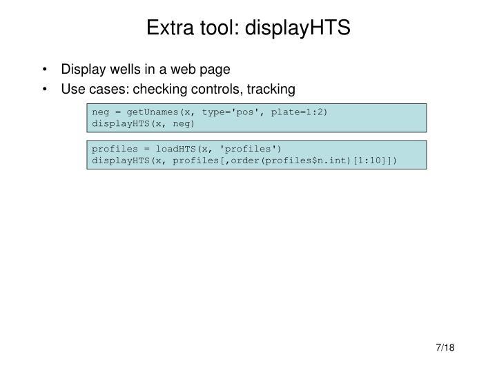 Extra tool: displayHTS