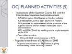 ocj planned activities 5