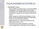 ocj plannned activities 7