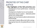 priorities of the chief justice