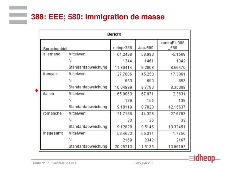 388: EEE; 580: