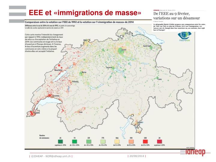 EEE et «immigrations de masse»