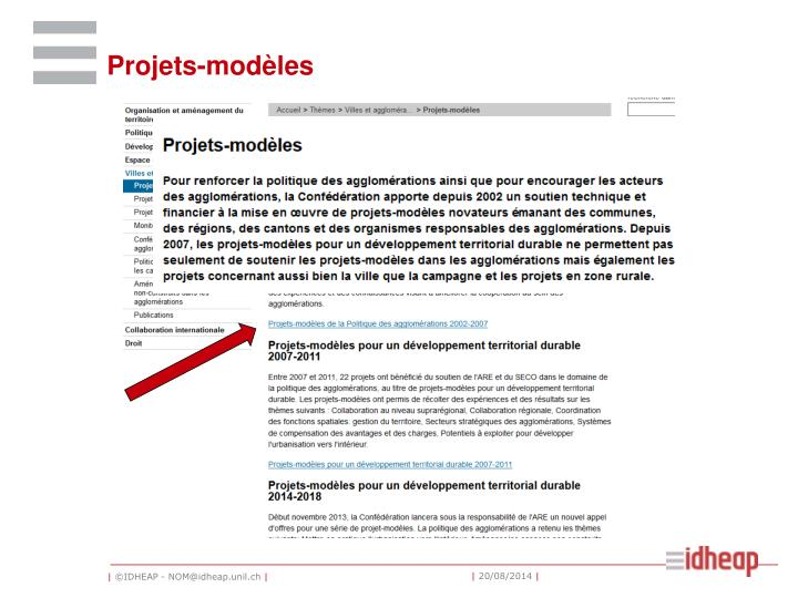 Projets-modèles