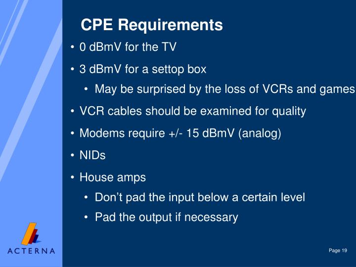 CPE Requirements