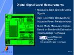 digital signal level measurements