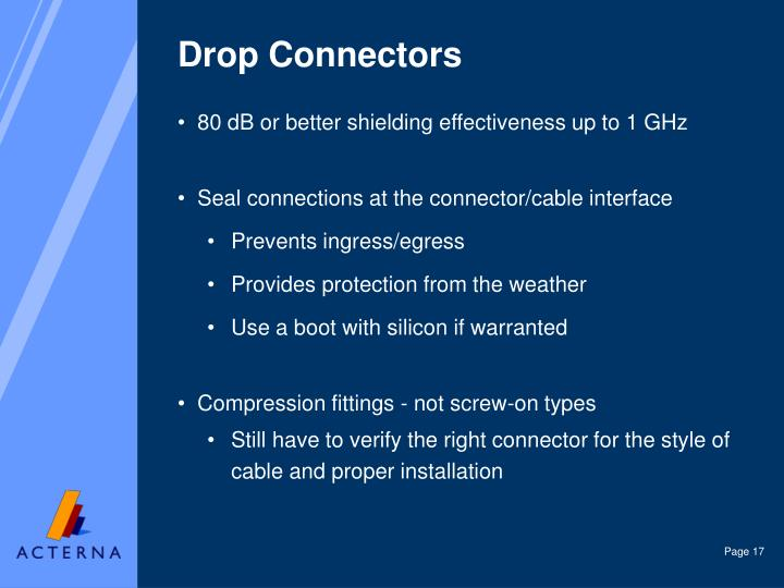 Drop Connectors