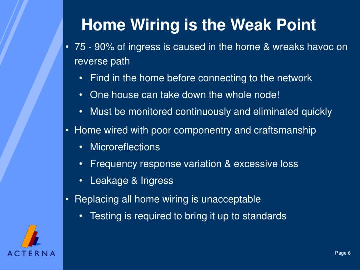 Home Wiring is the Weak Point