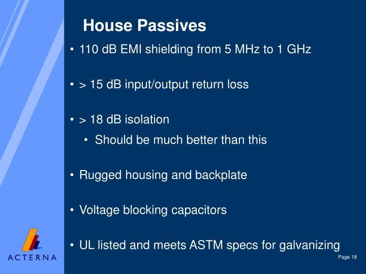 House Passives