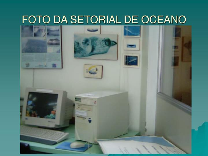 FOTO DA SETORIAL DE OCEANO