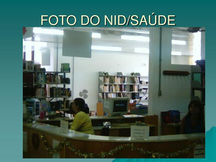 FOTO DO NID/SAÚDE