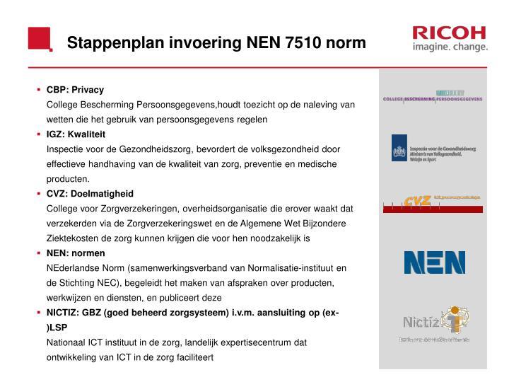 Stappenplan invoering NEN 7510 norm