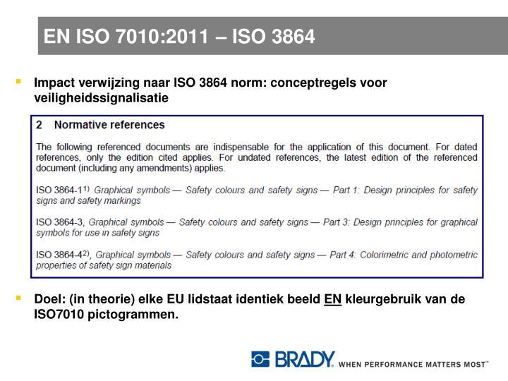 EN ISO 7010:2011 – ISO 3864