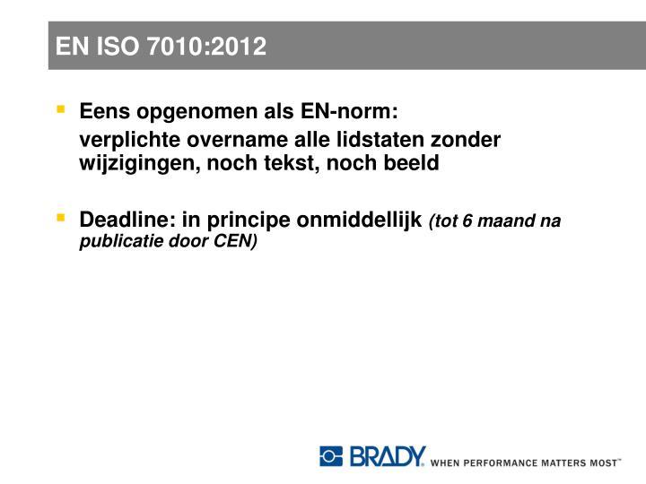 EN ISO 7010:2012