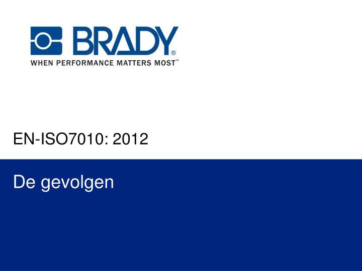 EN-ISO7010: 2012