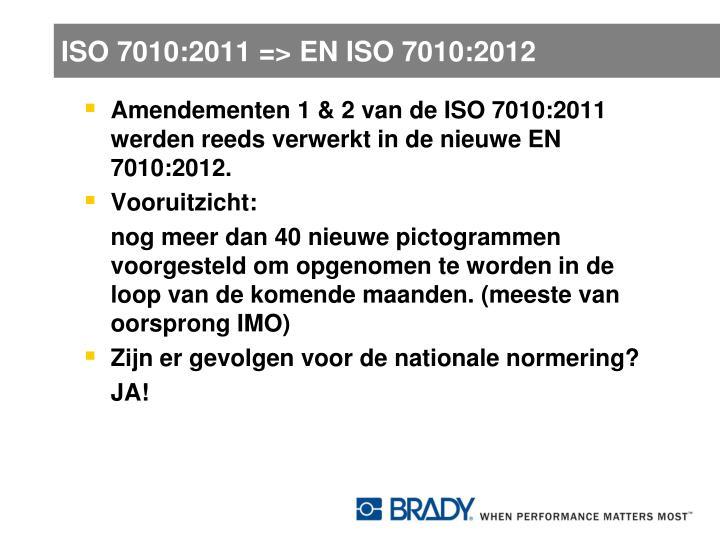 ISO 7010:2011 => EN ISO 7010:2012