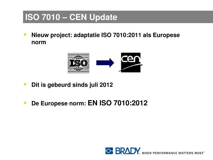 ISO 7010 – CEN Update