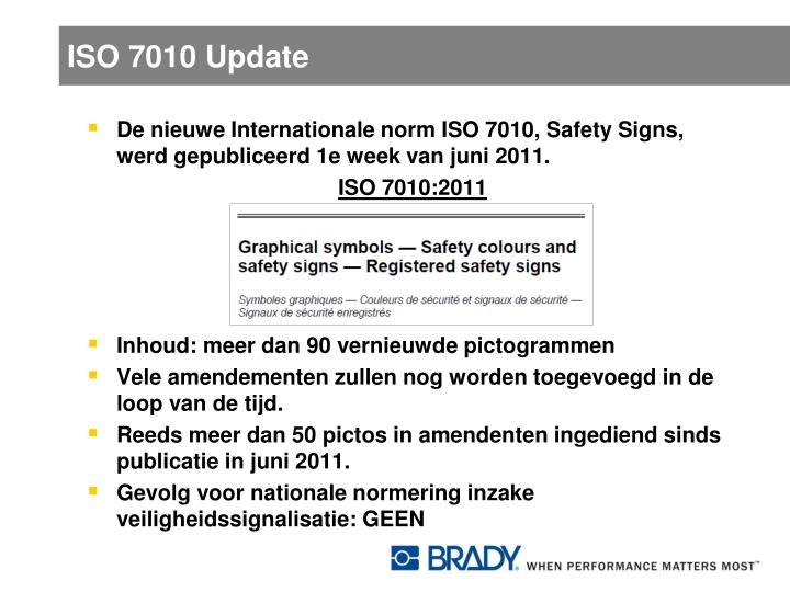 ISO 7010 Update