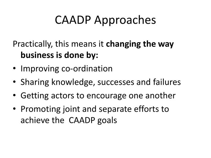 CAADP Approaches