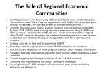 the role of regional economic communities