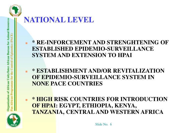 NATIONAL LEVEL