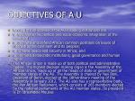 objectives of a u