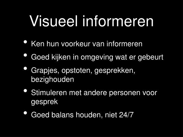 Visueel informeren