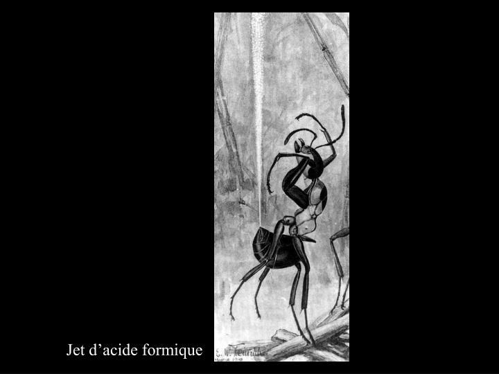 Jet d'acide formique