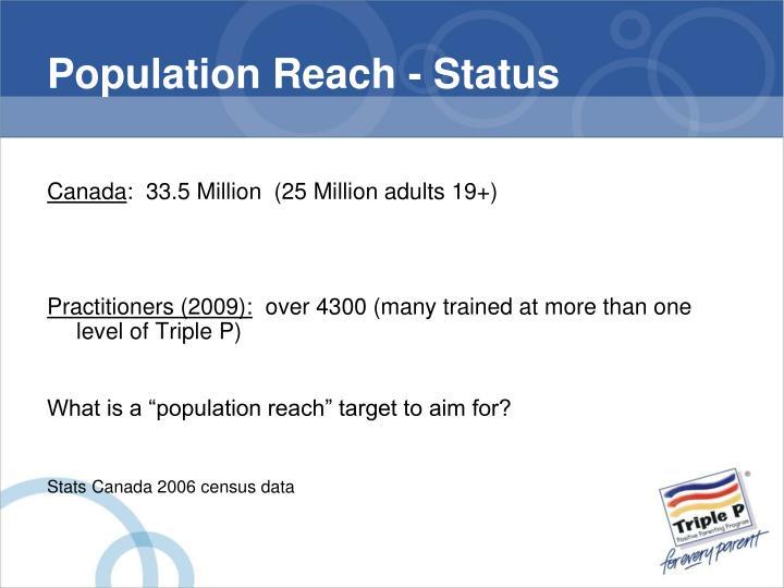 Population Reach - Status