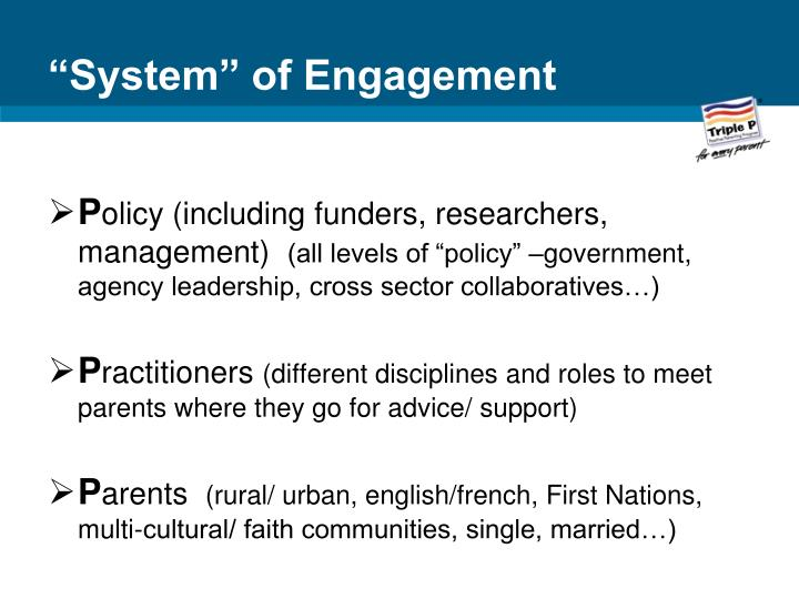 """""""System"""" of Engagement"""
