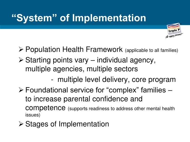 """""""System"""" of Implementation"""