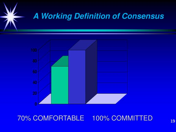 A Working Definition of Consensus