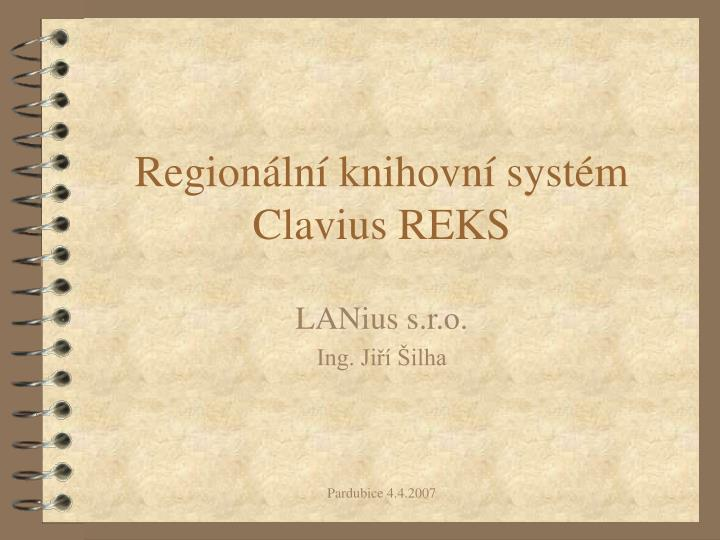 region ln knihovn syst m clavius reks