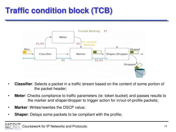 Traffic condition block (TCB)