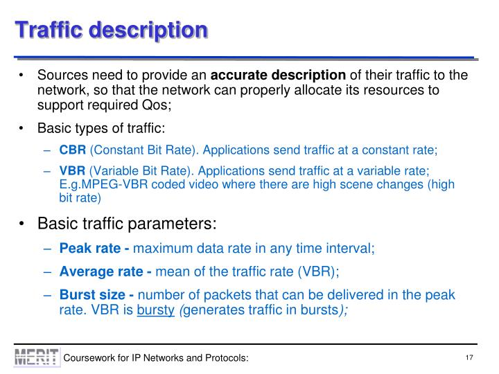 Traffic description