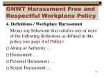 gnwt harassment free and respectful workplace policy5
