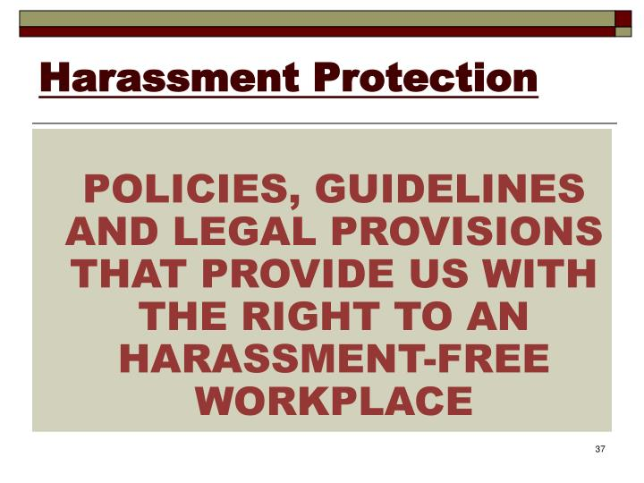 Harassment Protection