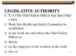 legislative authority